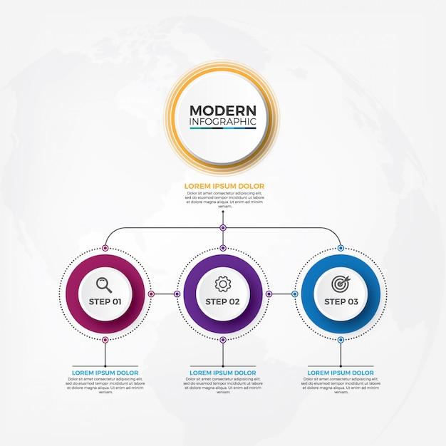 Organigramm-infografiken der geschäftshierarchie. Premium Vektoren