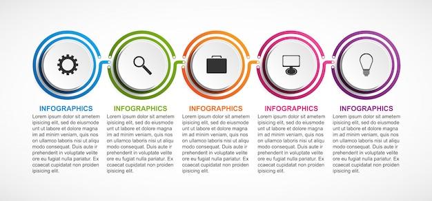 Organisation infographik vorlage Premium Vektoren