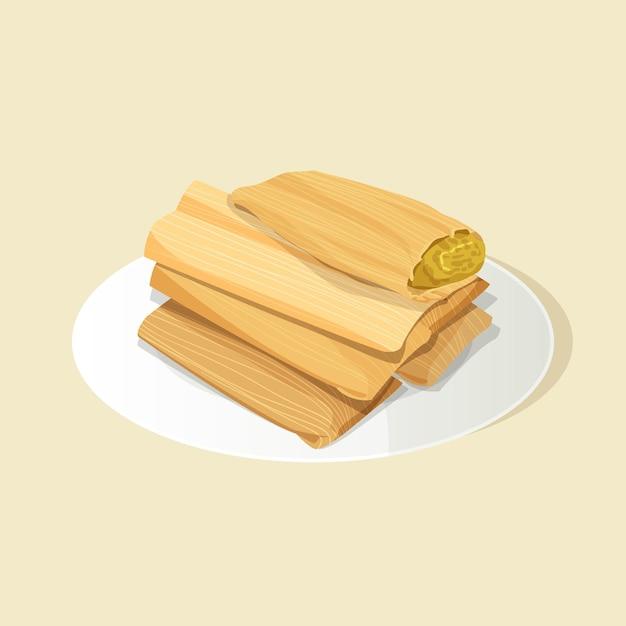 Organische flache design tamales Kostenlosen Vektoren