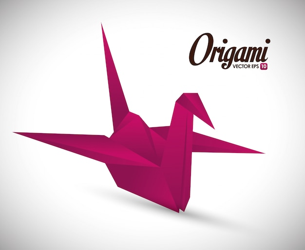 Origami-design-illustration Premium Vektoren
