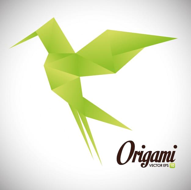 Origami-design-illustration Premium Vektoren