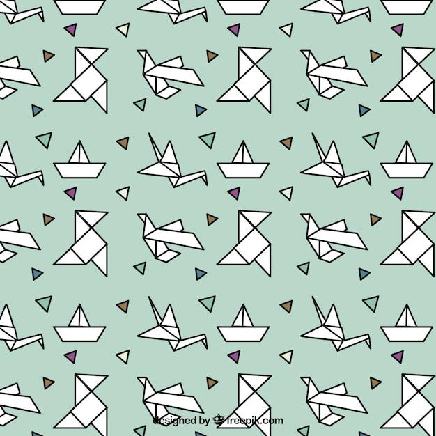 Origami-Muster Kostenlose Vektoren
