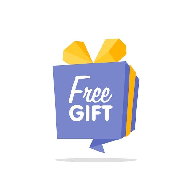 Origamikastenfahne / freie anlieferung, geschenkkonzept Premium Vektoren
