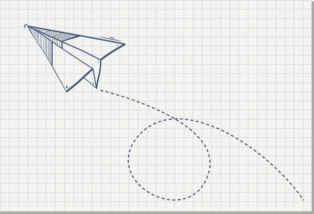 Origamipapierfläche auf dem notizbuchblatt Premium Vektoren