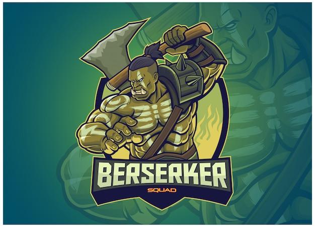 Ork-charakter für esports-logo Premium Vektoren