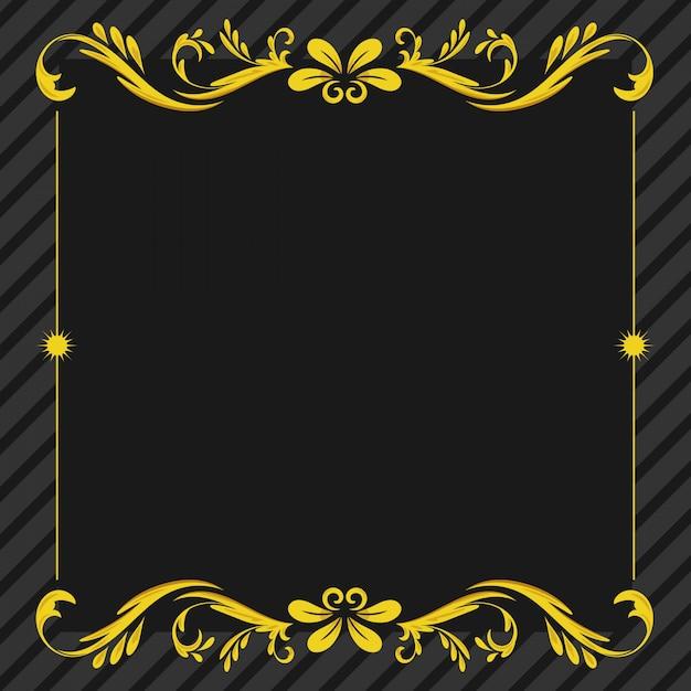 Ornament floral frame hintergrund Premium Vektoren