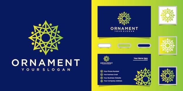 Ornament logo icon vektor design Premium Vektoren