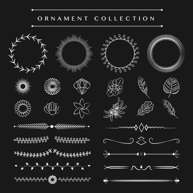 Ornament-sammlung vektor-design-konzept Kostenlosen Vektoren