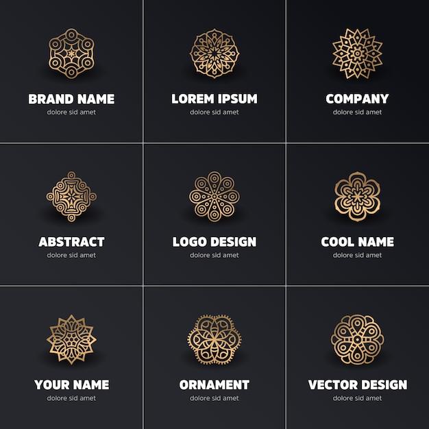 Ornament schöne karte mit mandala geometrische kreis element in vektor gemacht Kostenlosen Vektoren