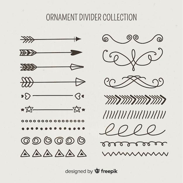 Ornament teilersammlung Kostenlosen Vektoren