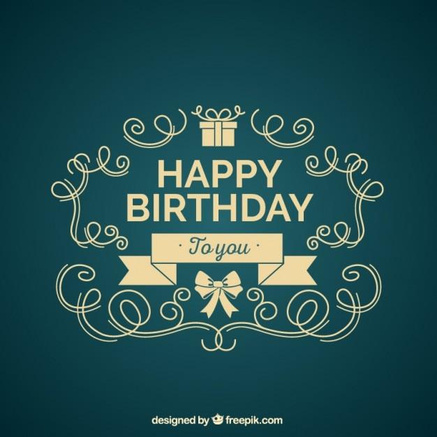 Jahrgang Geburtstagskarte Vektoren, Fotos und PSD Dateien | kostenloser Download