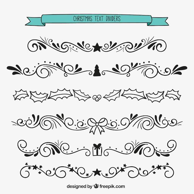 ornamental weihnachten text teiler download der premium. Black Bedroom Furniture Sets. Home Design Ideas