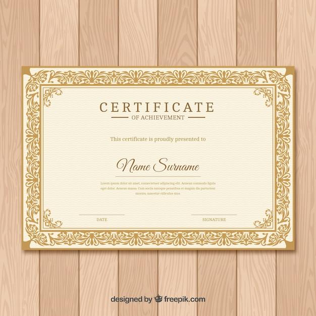 Ornamentale zertifikatgrenze Kostenlosen Vektoren