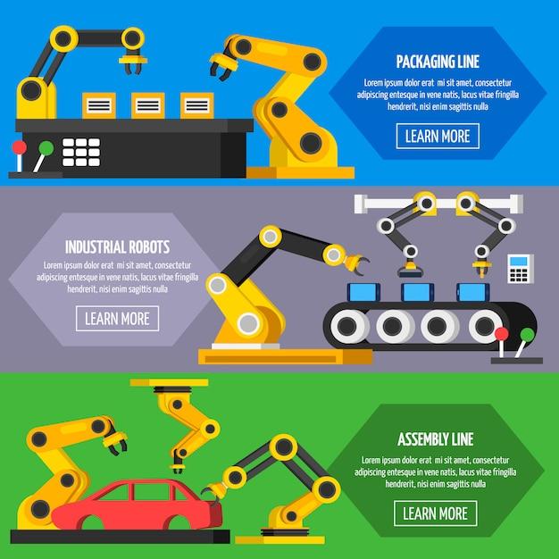Orthogonale banner für automatisierungsförderer Kostenlosen Vektoren