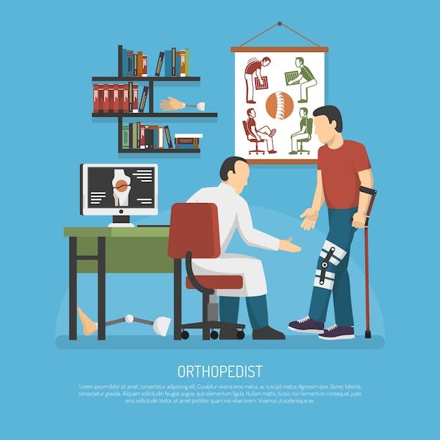 Orthopädie-design-konzept Kostenlosen Vektoren