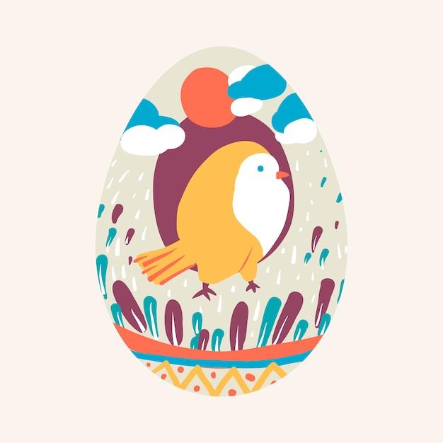 Ostern-festival gemalter eiervektor Kostenlosen Vektoren