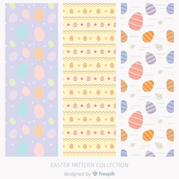 Ostern-mustersammlung Kostenlosen Vektoren