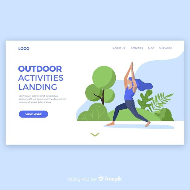 Outdoor-aktivitäten-landingpage Kostenlosen Vektoren