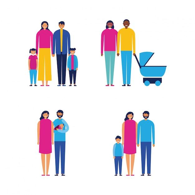 Outdoor zusammen familie Kostenlosen Vektoren