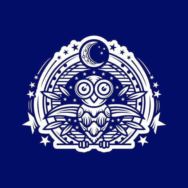 Owl night-logo Premium Vektoren