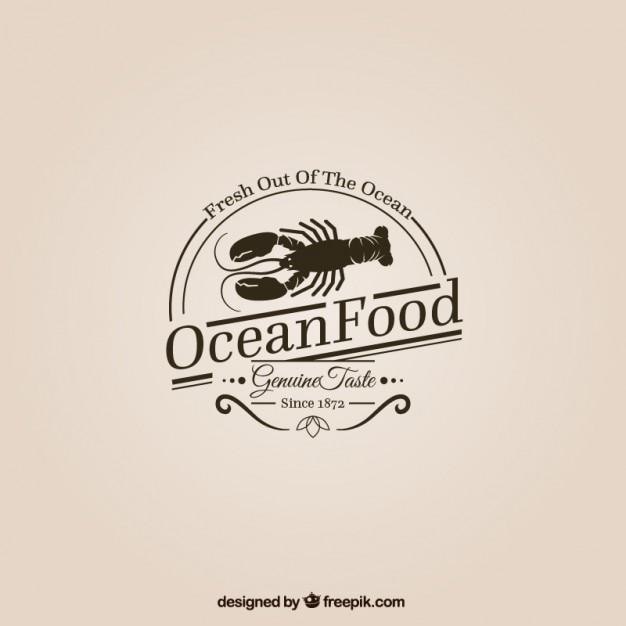 Ozean essen logo Kostenlosen Vektoren