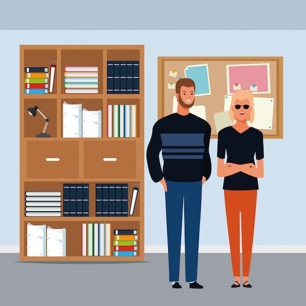 Paar avatar zeichentrickfigur Kostenlosen Vektoren