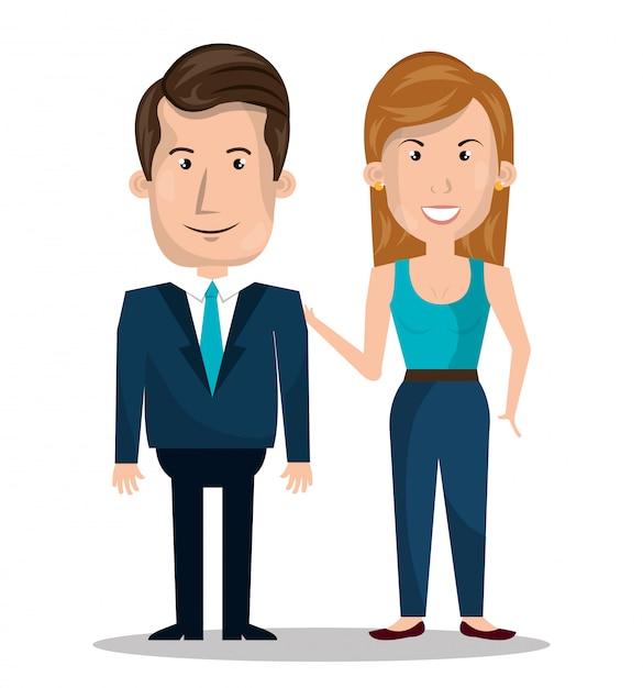 Paarbeziehung Kostenlosen Vektoren