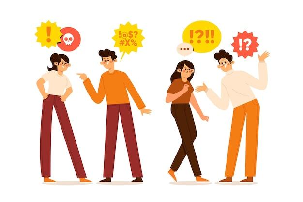 Paare mit beziehungsproblemen Kostenlosen Vektoren