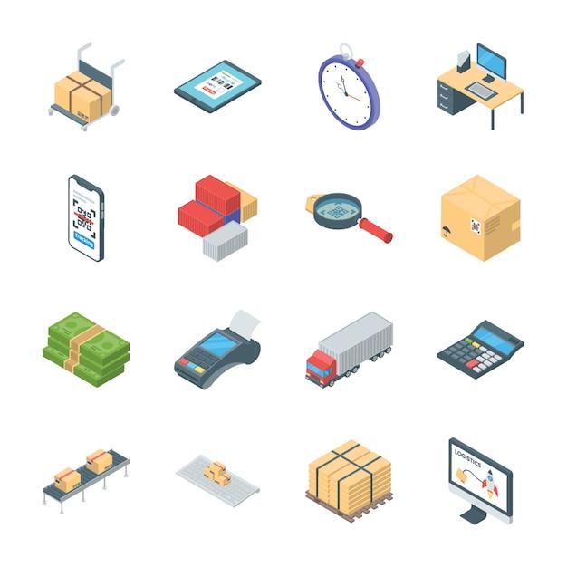 Pack von logistik-icons Premium Vektoren