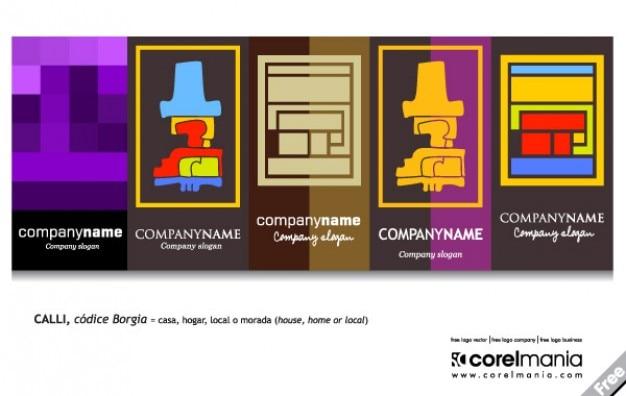Packen logo abstrakt Kostenlosen Vektoren