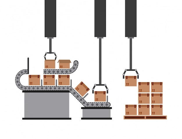 Packmaschine Premium Vektoren