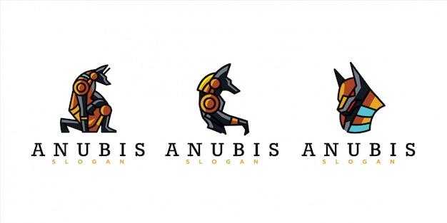 Packung anubis-logo Premium Vektoren