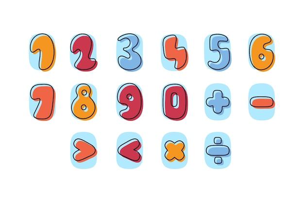 Packung handgezeichnete mathematische symbole Kostenlosen Vektoren