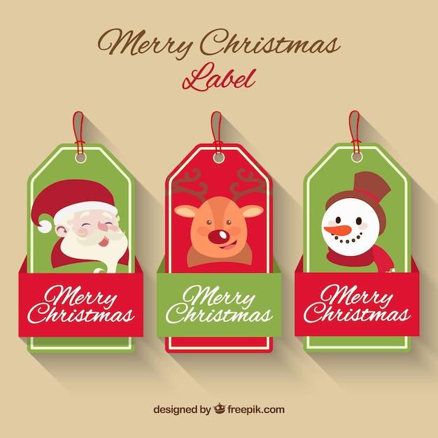packung mit drei sch nen etiketten mit weihnachten zeichen. Black Bedroom Furniture Sets. Home Design Ideas