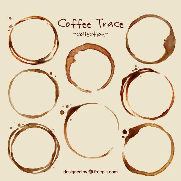 Packung mit kaffeeflecken Kostenlosen Vektoren