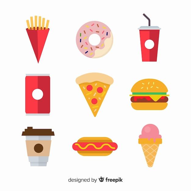 Packung mit verschiedenen snacks Kostenlosen Vektoren