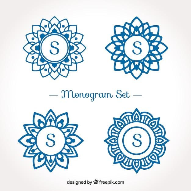 Packung Monogramm Logos mit dem Buchstaben \