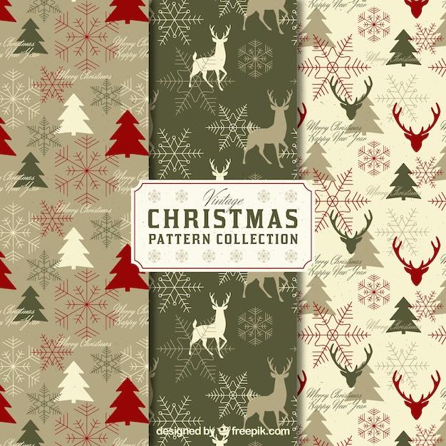 packung vintage weihnachten muster download der. Black Bedroom Furniture Sets. Home Design Ideas