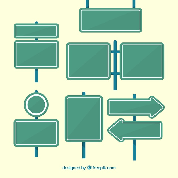 Packung von Plakaten in flachem Design Kostenlose Vektoren