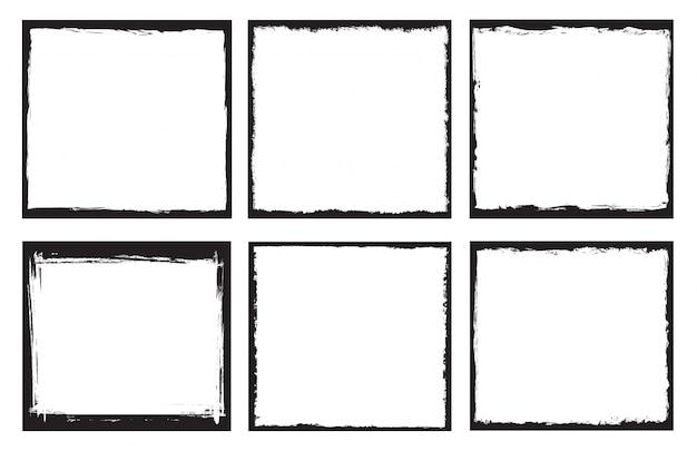 Paint frames sammlung Kostenlosen Vektoren