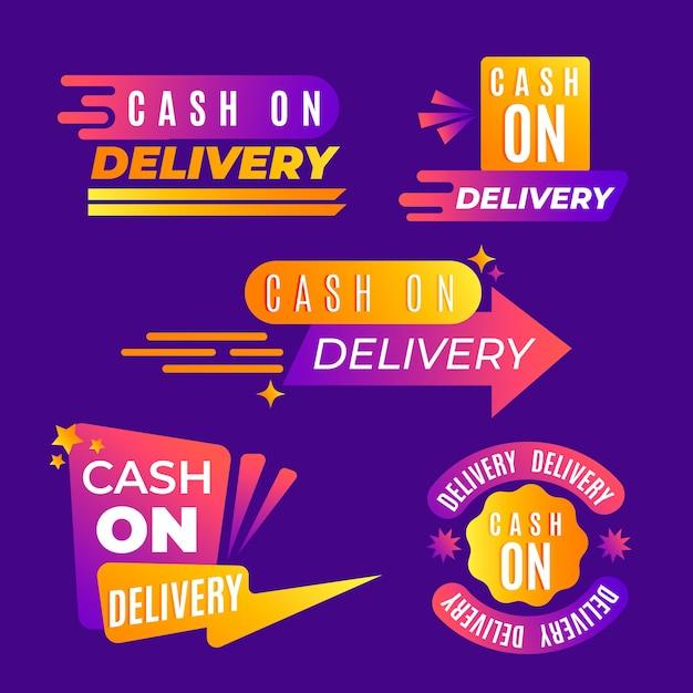 Paket mit nachnahmeausweisen Kostenlosen Vektoren