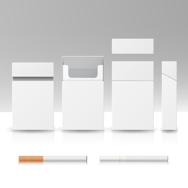Paket schachtel zigaretten Premium Vektoren