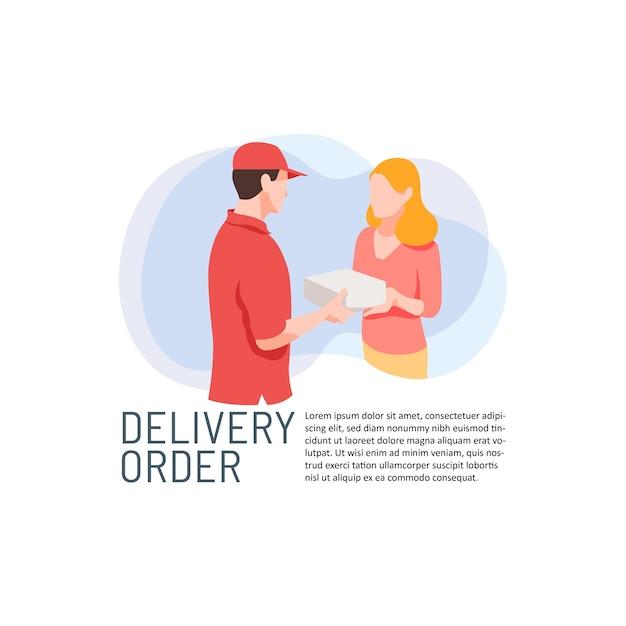 Paketlieferauftragsservice Premium Vektoren