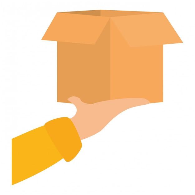 Paketlieferung symbolbild Premium Vektoren