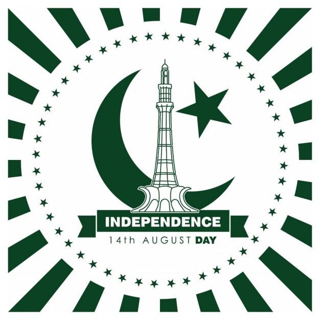 Pakistan day vintage-label Kostenlosen Vektoren