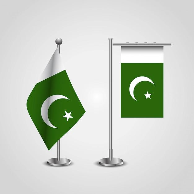 Pakistan-flagge mit kreativem designvektor Kostenlosen Vektoren