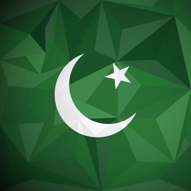 Pakistan geometrischer hintergrund Kostenlosen Vektoren