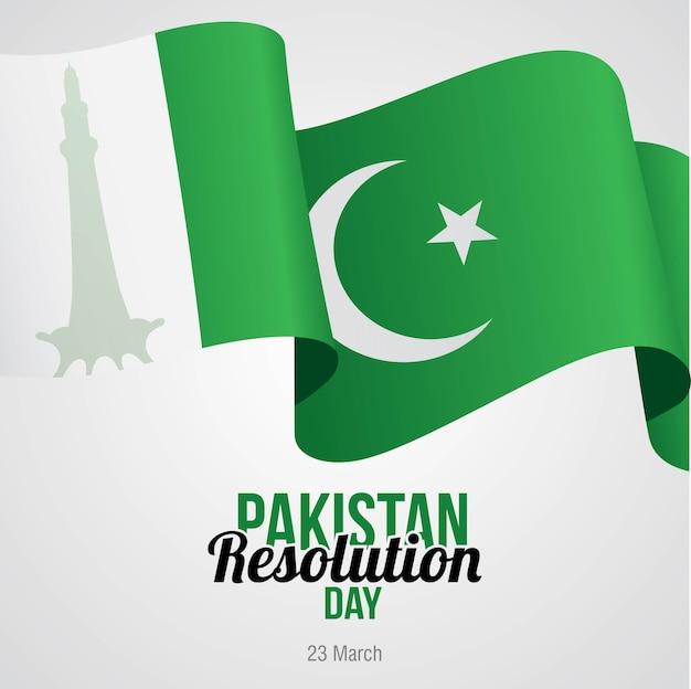 Pakistan resolution day feierte am 23. märz Premium Vektoren