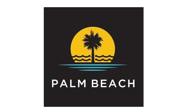Palm beach logo design-inspiration Premium Vektoren