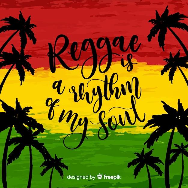 Palm silhouetten reggae hintergrund Kostenlosen Vektoren